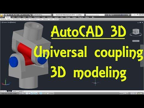 Universal coupling ( Hooks joint ) AutoCAD 3D modeling tutorial   AutoCAD 3D Modeling 19