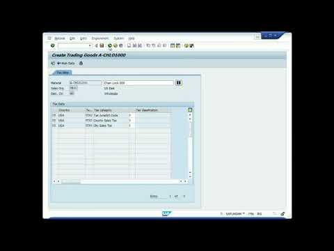 SAP GBI MM 02 Create Material A CHLO1000