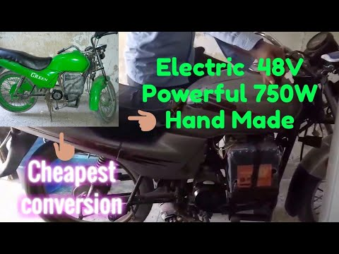 Electric Motorcycle GREEN only 250$ Ready to run powerful EM Part-3