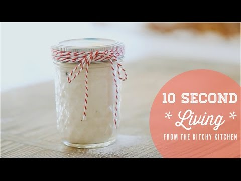 How to Make Vanilla Sugar // 10 Second Living