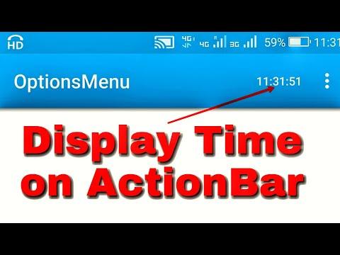 Display Time on ActionBar