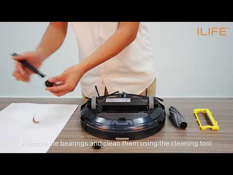 How to clean the roll brush | ILIFE A6 Robot Vacuum Cleaner