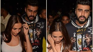 Malaika Arora & Arjun Kapoor On A Dinner Date,  Arjun Protects Malaika From Fans and Media Mob
