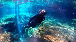 Exploring Endless Caves In 100% Clear Water!! (Beautiful)