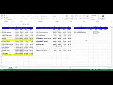 Cash Flow to Creditors and Cash Flow to Shareholders using Excel