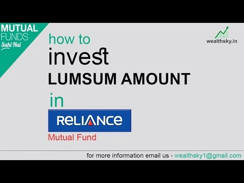How to Invest Lump sum Amount in Reliance Mutual Fund in hindi