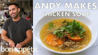 Andy Makes Chicken Soup with Sweet Potatoes | From the Test Kitchen & Healthyish | Bon Appétit