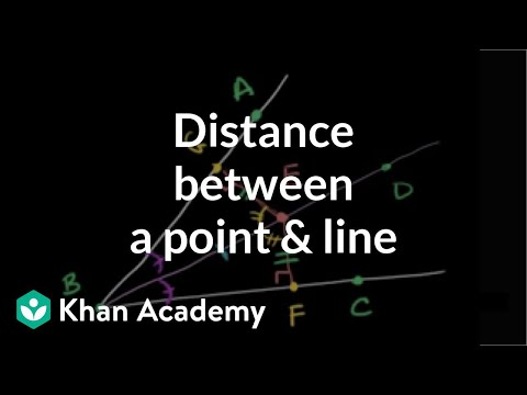 Point-line distance and angle bisectors | Geometry | Khan Academy