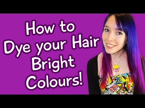 How to Dye Your Hair Bright Colours (Purple & Pink Dip Dye / Ombre Tutorial)