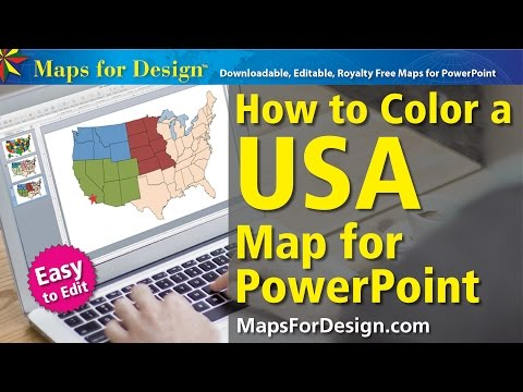 How to Color a USA Map for Making Sales Territories