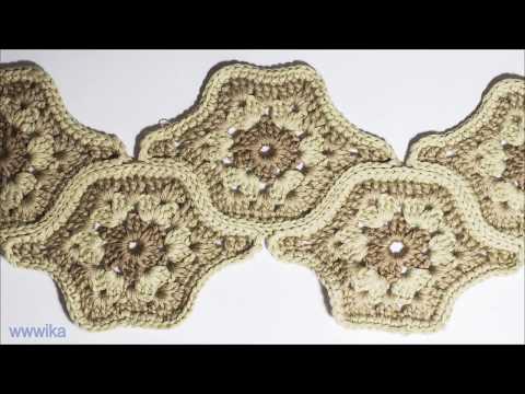 Crochet African Flower Hexagon How to Make a Crochet Hexagon Wika Crochet