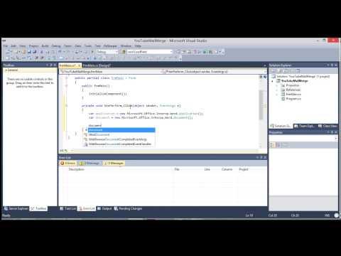 C# - Microsoft Word API Mail Merge