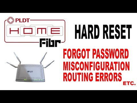 How to Hard reset/Factory reset PLDT Home Fibr modem router