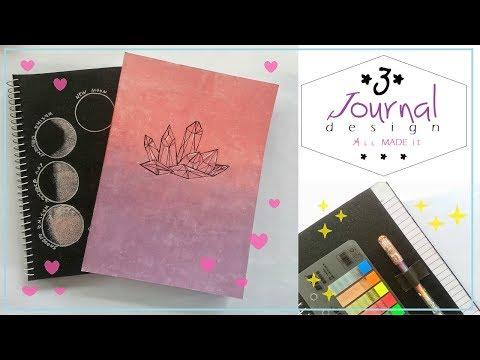 3 DIY Journal Design Ideas | Notebook designs | AiiMADEit