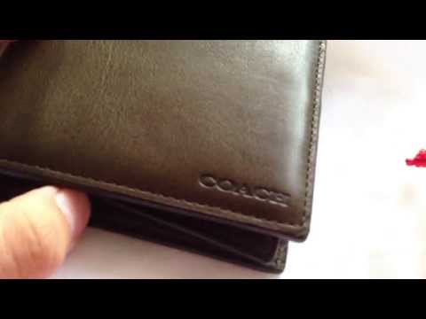 COACH Bleecker legacy leather compact id wallet