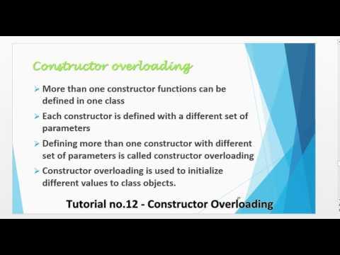 Tutorial no 12   Constructor Overloading By Khezer Mustafa