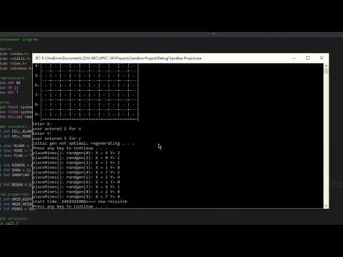 Command Line Minesweeper in C