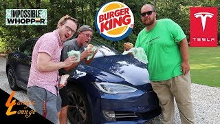 Download Trying the Impossible Whopper In a Tesla! Video
