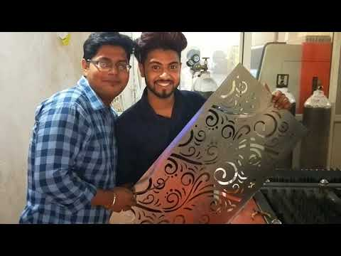 Stainless steel door Fiber laser cutting machine in India