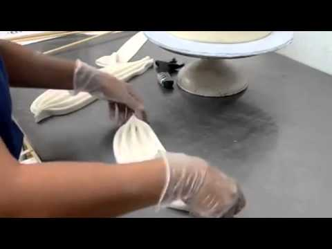 How to make cake Easy Drape swag making technique   Decorate Wedding Cake like a pro