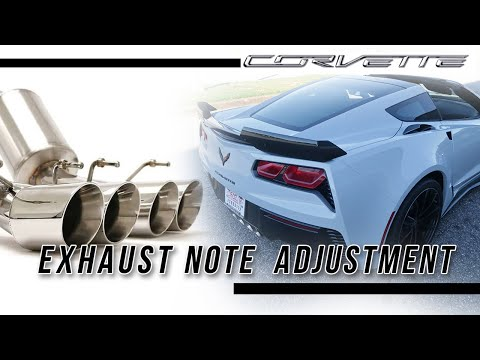 How to change exhaust note C7 corvette