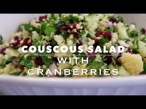 COUSCOUS SALAD | HEALTHY CLEAN EATING RECIPE