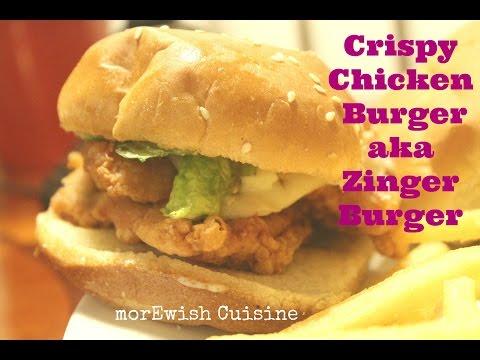 Crispy Chicken Burger aka Zinger Burger | KFC copy cat recipe  by morEwish