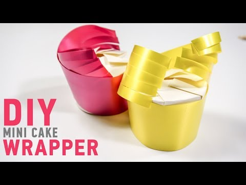 Wedding Cake Wrapping ideas:  Easy Paper Cup DIY |  iDIYa #5
