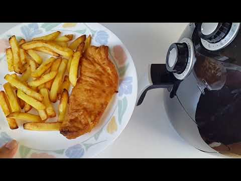 Air Fryer - Cooking Battered Cod Fish & Chips