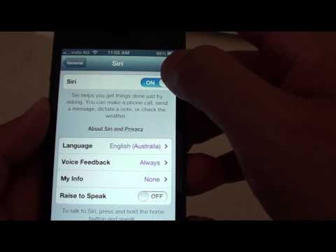 iPhone 5: How to Enable/Disable Siri Voice Control