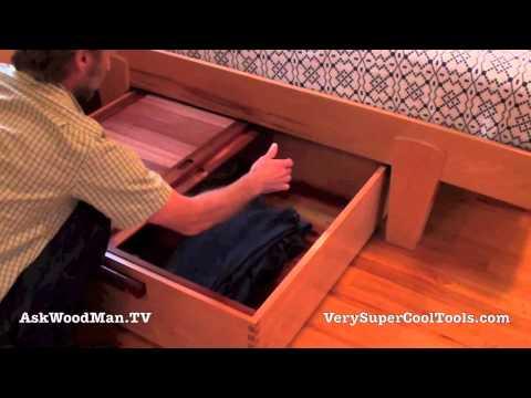 20 Platform Bed Storage Drawer • Final Video Part 2