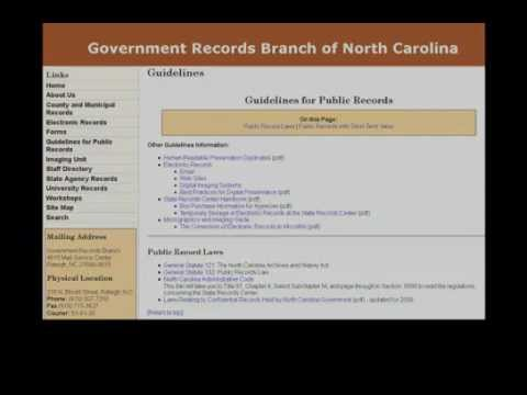 Social Media Usage in NC State Government - Preservation and Records Retention (Tutorial 5)