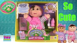 Cabbage Patch Baby So Real Interactive Baby Doll Unboxing Toy Review | PSToyReviews