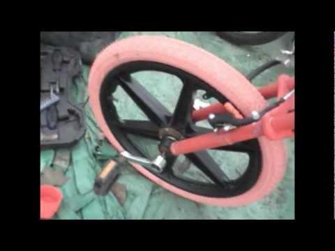 Cheap Drift Trike (Another £40 drift trike) Freewheel hub on plastic BMX wheel