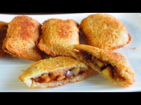 Quick Bread Apple Pie Pockets/Baked and fried versions|Poonam's Kitchen