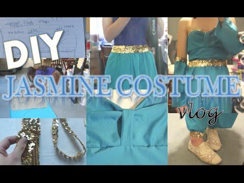 DIY Jasmine Halloween Costume: Vlog!! | GlitteryCassie