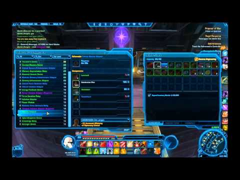 Things I wish I knew SWTOR Crafting