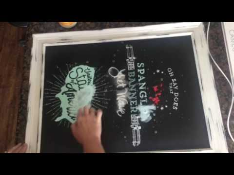 Cleaning a chalkboard Chalk Couture