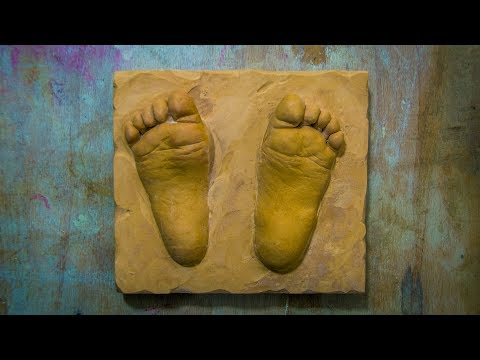 How to make a baby foot casting - Molding tutorial DIY