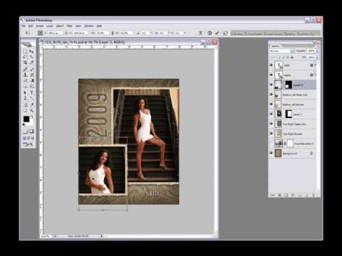 Photoshop Tutorial: Adding Photos to Layered Templates in Photoshop