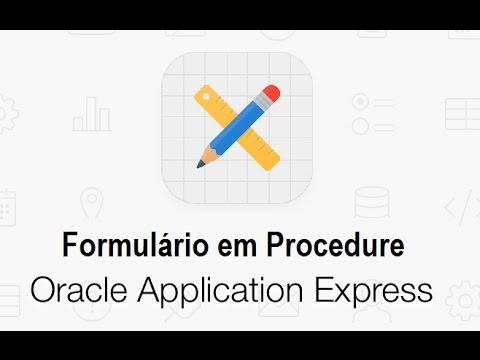 Formulário em Procedure Oracle APEX 5 - #26