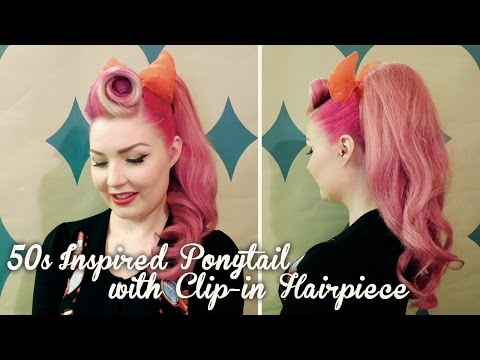 50s / Vintage Inspired Ponytail Using A Clip-in Hairpiece | Diablo Rose