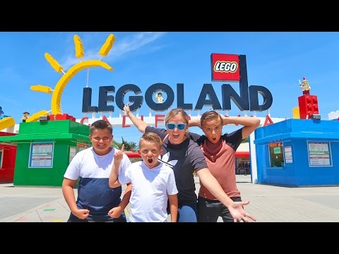 LEGOLAND Lego Kingdom Theme Park Tour with Carl and Jinger Family!!
