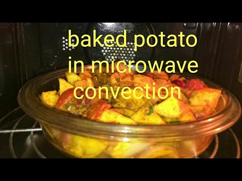 BAKED SPICY POTATOES IN MICROWAVE