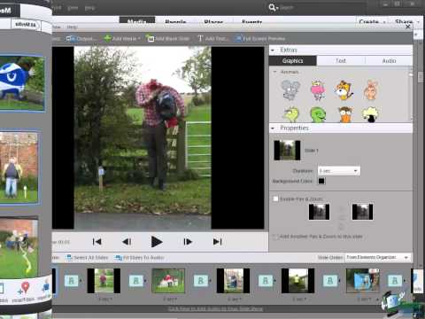 Learn how to use Photoshop Elements 11 - Part 22 - How to Create a Slideshow in Photoshop