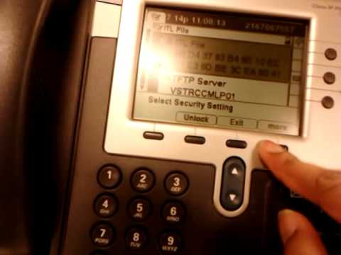 How to delete a TTL file or a CTI  file from CISCO IP Phone VOIP