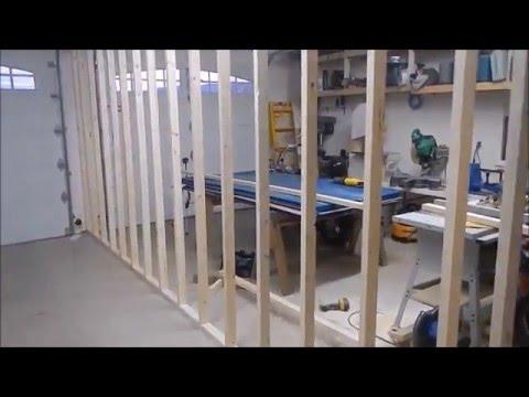 New Garage Dividing Wall part 1