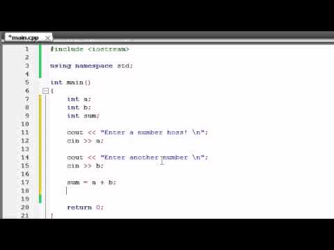 Buckys C++ Programming Tutorials - 5 - Creating a Basic Calculator