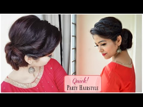 HEATLESS EID Hairstyle Tutorial 2018 | Quick Party Hairstyle | How to : Side Hair Bun Hairstyle
