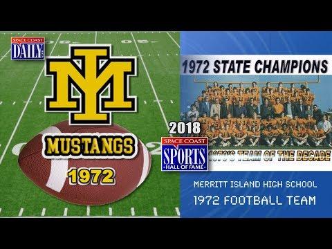 1972 Merritt Island Mustangs Football: 2018 Space Coast Sports Hall of Fame